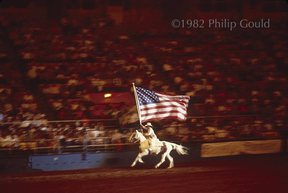 Rodeo Rider, American flag, Louisiana State Fair, Shreveport